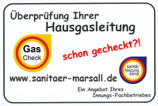 Sanitär Marsall - Gas Check Banner